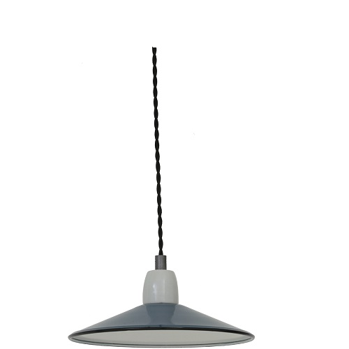 Blauwe hanglamp klein -1001850