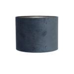 Kap cilinder 30-30-21 cm VELOURS dusty blue