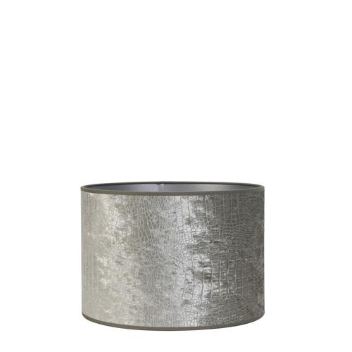 Kap cilinder 50-50-38 cm CHELSEA velours zilver