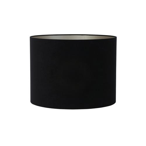 Kap cilinder 50-50-38 cm VELOURS zwart-taupe