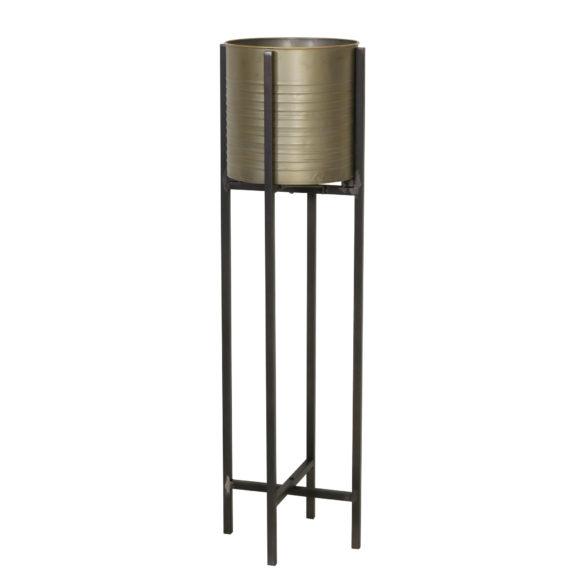 Bloempot-deco-CAKSI-op-standaard-tin-brons-L