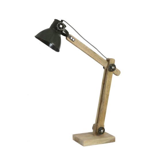 Bureaulamp EKERD - hout weather barn groen - L