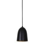 Hanglamp Ø14x19 cm SUMERA mat zwart-goud