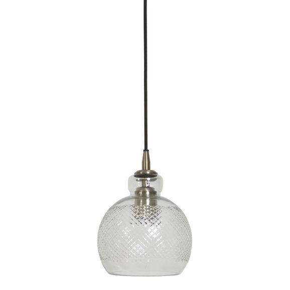 Hanglamp Ø16x19 cm DESTINEY glas antiek brons