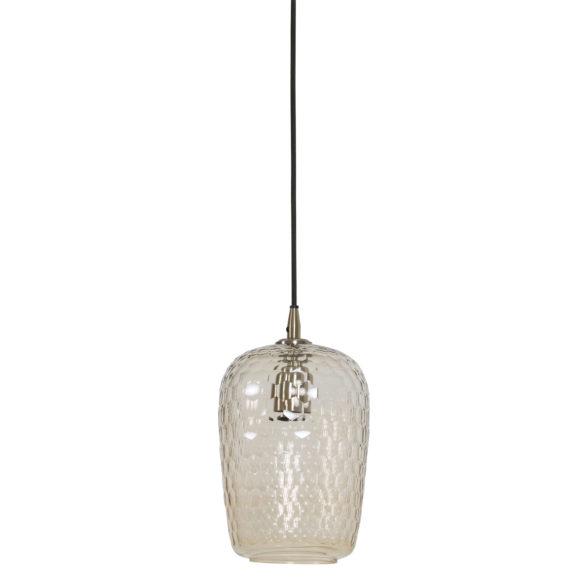 Hanglamp Ø17x30 cm DELICA glas antiek brons