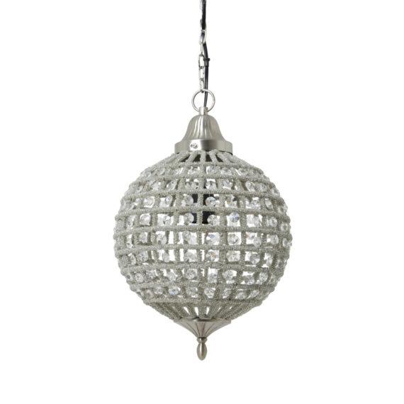 Hanglamp CHEYENNE - Nikkel-Kristal