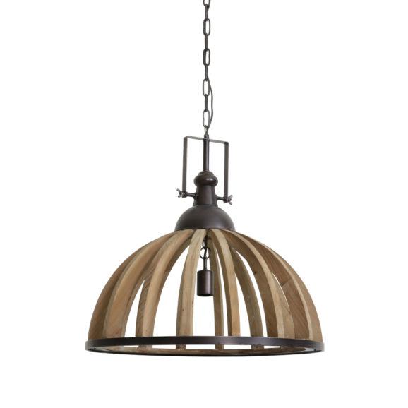 Hanglamp DJEM - hout kop zink - L