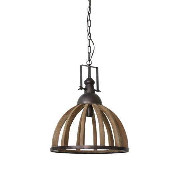Hanglamp DJEM - hout kop zink - M