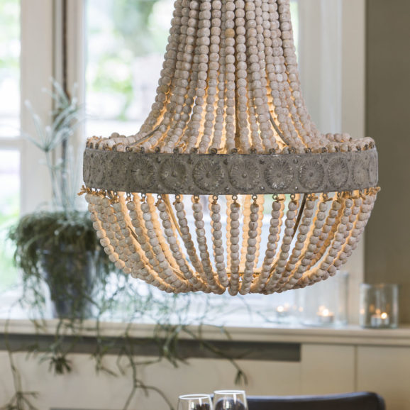 Hanglamp LUNA - Kralen Oud Wit XL