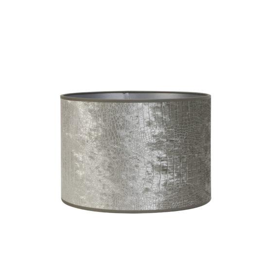 Kap cilinder 40-40-35 cm CHELSEA velours zilver