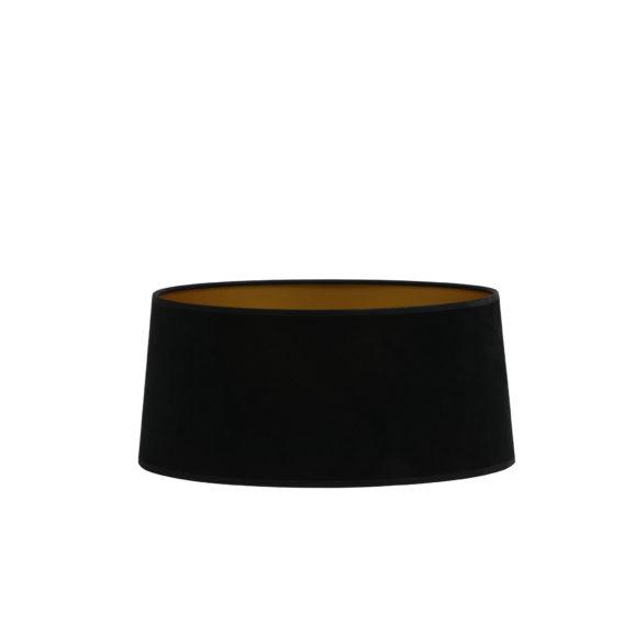 Kap drum plat 45-42-25 cm VELOURS zwart-goud