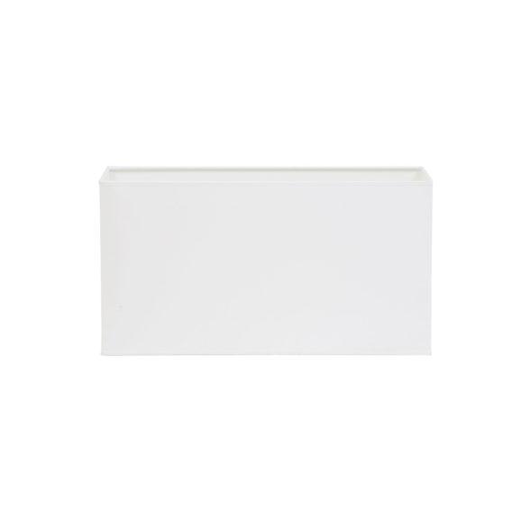Kap rechthoek recht 35-18-22 cm POLYCOTTON wit