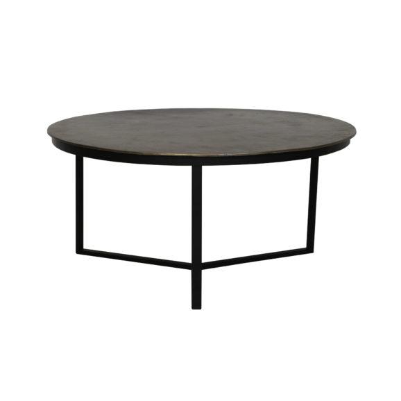 Salontafel RETIRO - ruw Antiek-brons-mat zwart