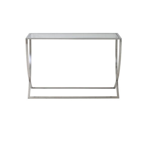 Sidetable Met Glas.Sidetable Molina Glas Nikkel L