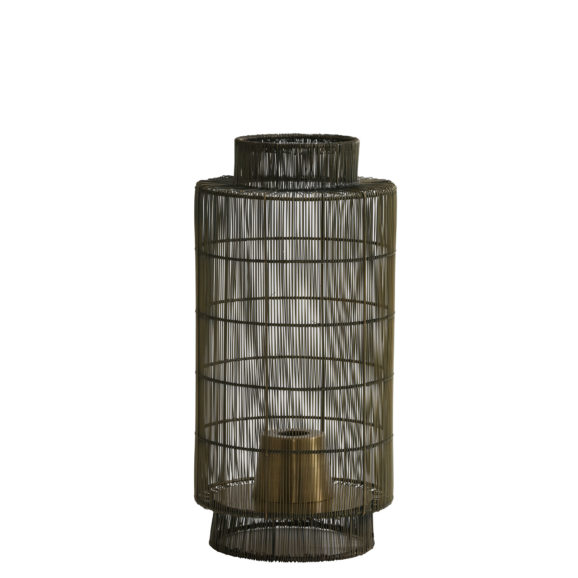Tafellamp/Lantaarn GRUARO - Draad Antiek-Brons