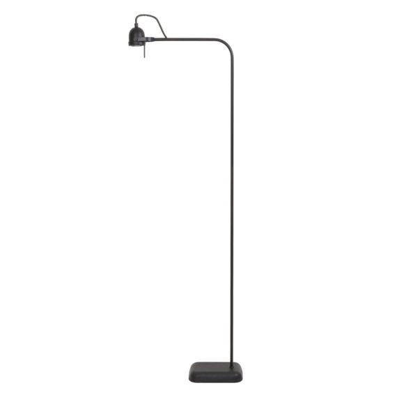Vloerlamp DAIMEN - Mat Zwart - Incl. Dimmer Led