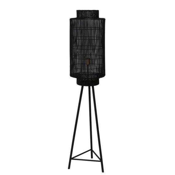 Vloerlamp GRUARO - mat zwart-Antiek-brons - L