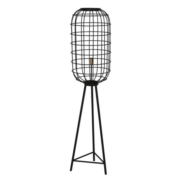 Vloerlamp TOAH - mat zwart-Antiek-brons - L