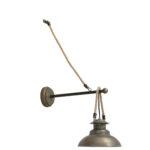 Wandlamp ARKLOW - Brons Met Touw