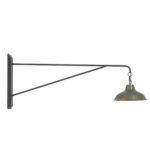Wandlamp AVOCA - Antiek - Grijs
