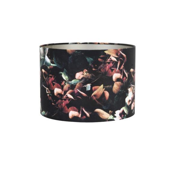 Kap cilinder 35-35-30 cm VELOURS hortensia zwart