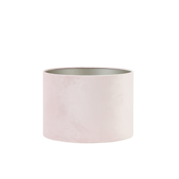 Kap cilinder 40-40-30 cm VELOURS licht roze