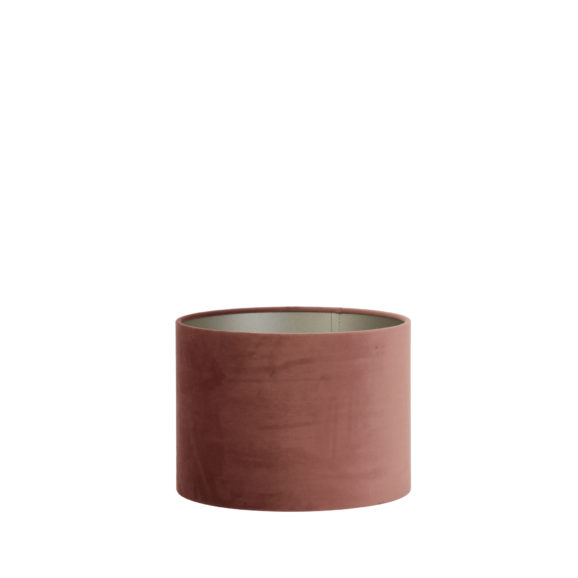 Lampenkap cilinder VELOURS - 30-30-21cm - dusky pink