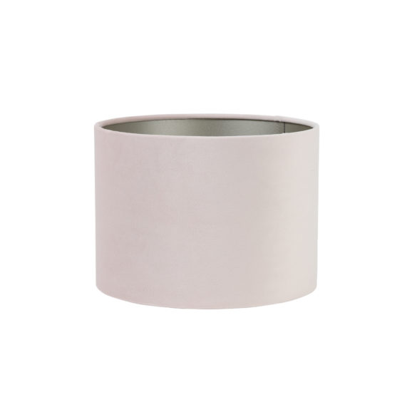 Kap cilinder 30-30-21 cm VELOURS licht roze