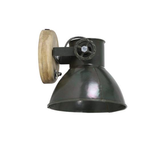 Wandlamp ELAY - hout-leger groen