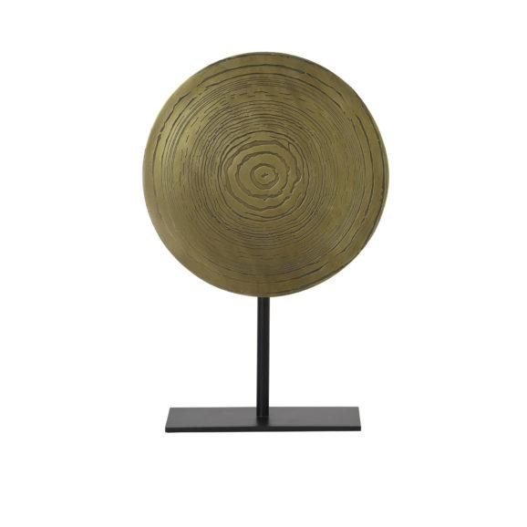 Ornament op voet Ø25x38 cm SASIM ant brons spiraal-mat zwart