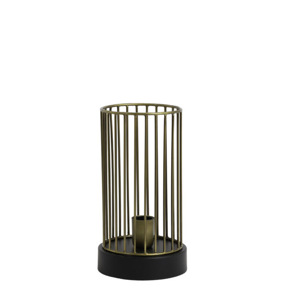 Tafellamp Ø16x30 cm JORIM antiek brons-mat zwart