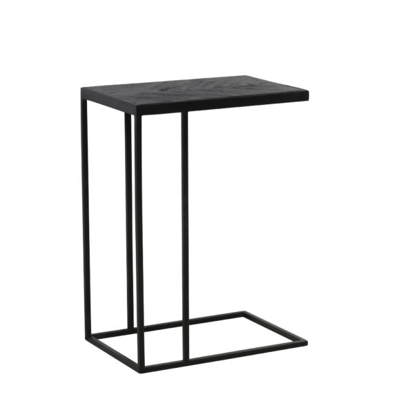 Bijzettafel 45x30x62 cm CHISA hout zwart-zwart