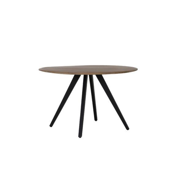 Eettafel Ø120x78 cm MIMOSO acacia hout-zwart