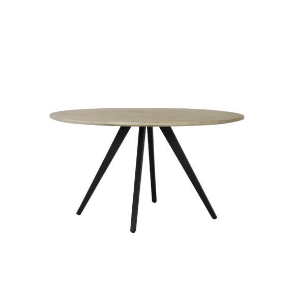 Eettafel Ø140x78 cm MAGNIFERA mango hout-zwart