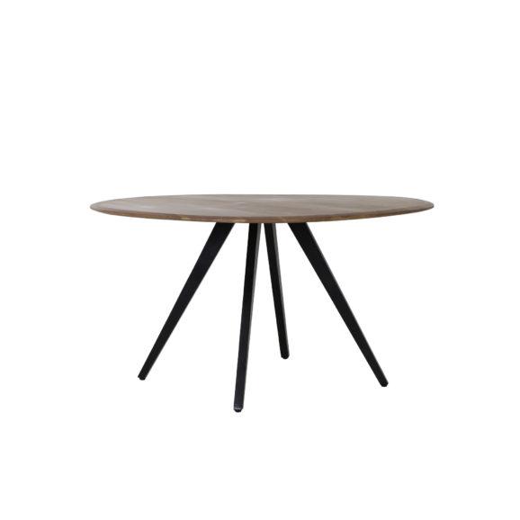 Eettafel Ø140x78 cm MIMOSO acacia hout-zwart