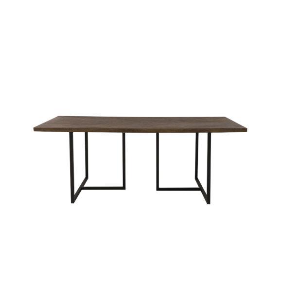 Eettafel 200x90x78 cm CHISA hout bruin-zwart