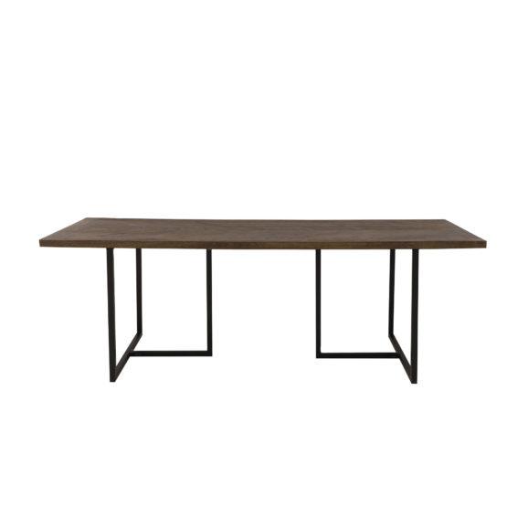 Eettafel 220x100x78 cm CHISA hout bruin-zwart