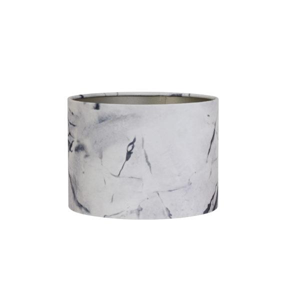 Kap cilinder 30-30-21 cm MARBLE grijs