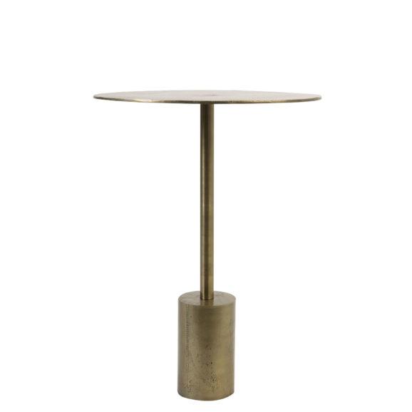 Bijzettafel Ø40x55 cm MOLO ruw antiek brons