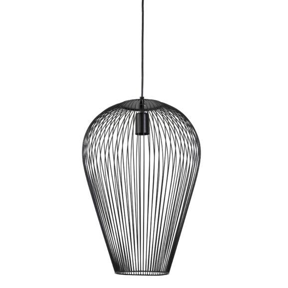 Hanglamp Ø37x50 cm ABBY mat zwart