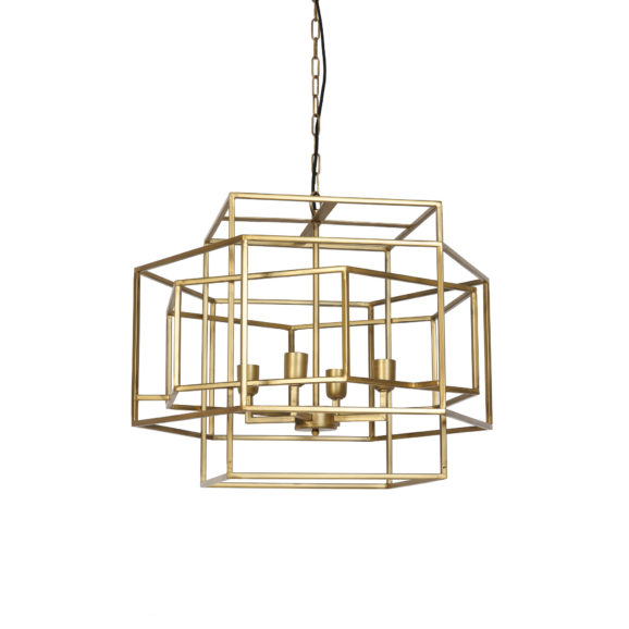 Hanglamp 4L 69x64x56 cm DALISIA antiek goud