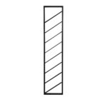 Wijnrek 36x6x160 cm MALBEO zwart