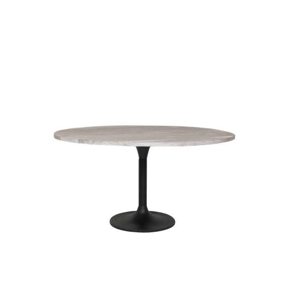 Eettafel Ø140x78 cm BIBOCA acacia hout grijs-zwart