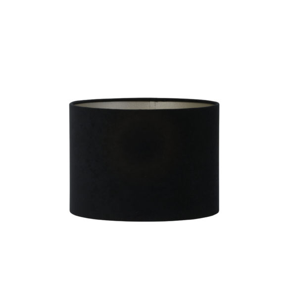 Kap cilinder 30-30-21 cm VELOURS zwart-taupe
