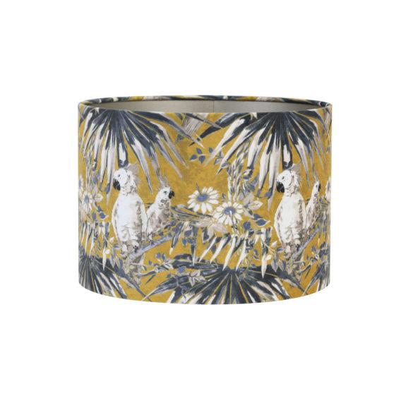 Kap cilinder 40-40-30 cm VELOURS parrot oker