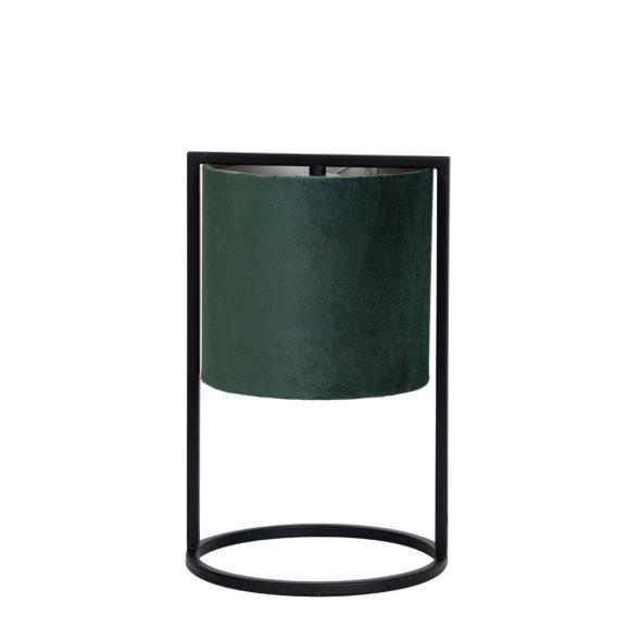 Tafellamp Ø22x35 cm SANTOS mat zwart+kap donker groen