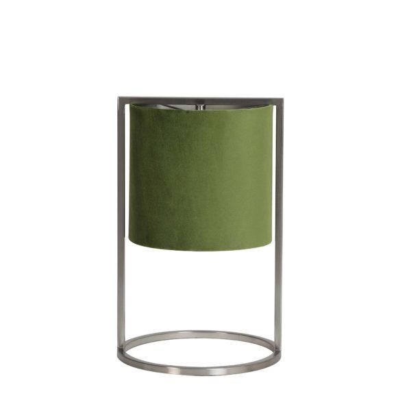 Tafellamp Ø22x35 cm SANTOS nikkel+kap groen