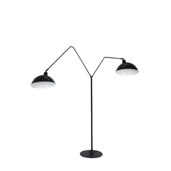 Vloerlamp 2L 140x31x180 cm ORION mat zwart