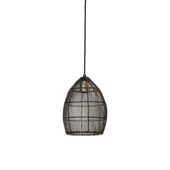 Hanglamp Ø20x25 cm MEYA zwart-goud