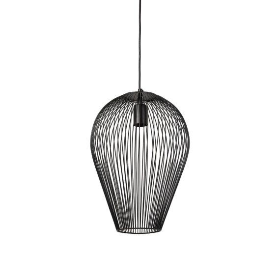 Light & Living - Hanglamp Ø31x40 cm ABBY mat zwart - 2927412